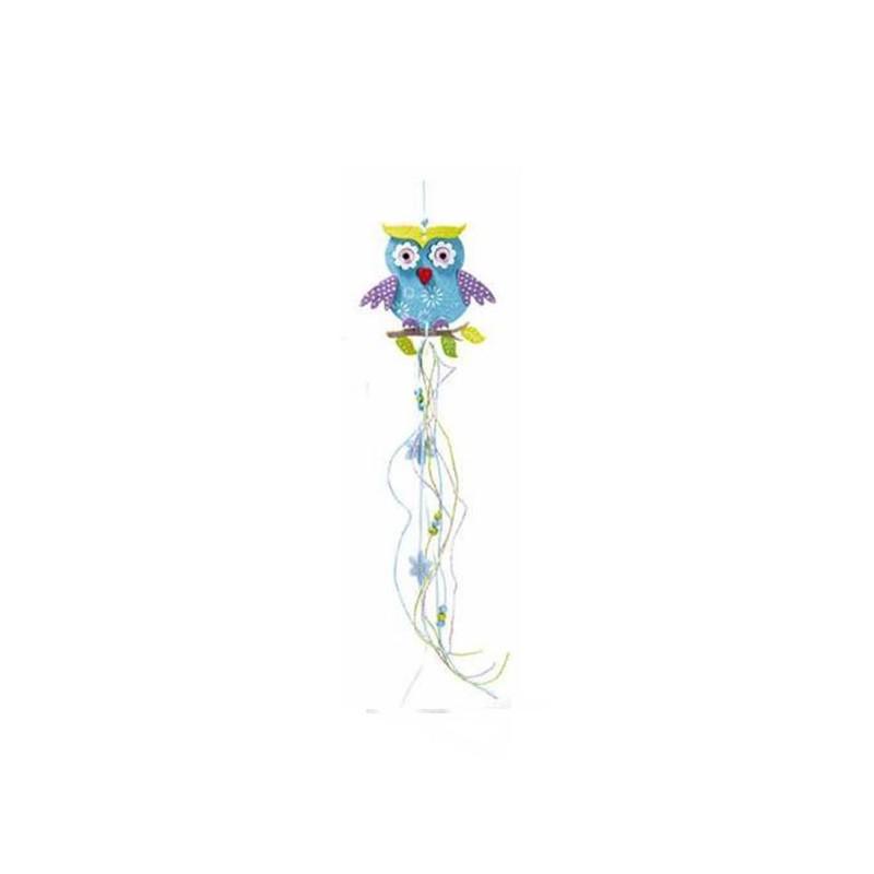 GUFO DECORATIVO IN FELTRO DA APPENDERE - ROSA