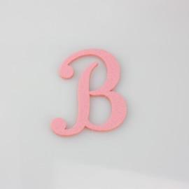 """LETTERA IN FELTRO COLORATO - """"B"""" CORSIVO MAIUSCOLO"""