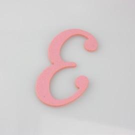 """LETTERA IN FELTRO COLORATO - """"E"""" CORSIVO MAIUSCOLO"""
