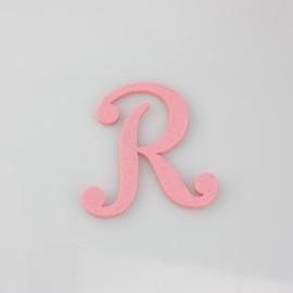 """LETTERA IN FELTRO COLORATO - """"R"""" CORSIVO MAIUSCOLO"""