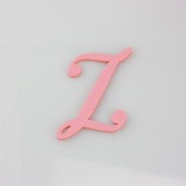 """LETTERA IN FELTRO COLORATO - """"Z"""" CORSIVO MAIUSCOLO"""
