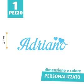 NOME IN FELTRO PERSONALIZZATO - ADRIANO