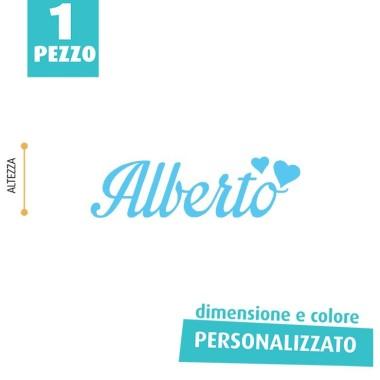 NOME IN FELTRO PERSONALIZZATO - ALBERTO