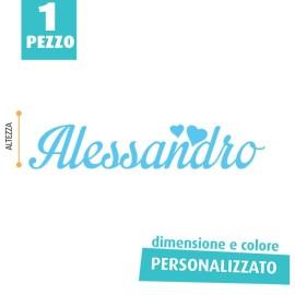 NOME IN FELTRO PERSONALIZZATO - ALESSANDRO