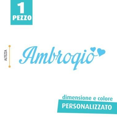 NOME IN FELTRO PERSONALIZZATO - AMBROGIO