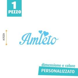 NOME IN FELTRO PERSONALIZZATO - AMLETO