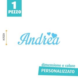 NOME IN FELTRO PERSONALIZZATO - ANDREA