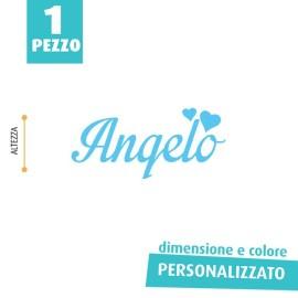 NOME IN FELTRO PERSONALIZZATO - ANGELO