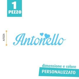 NOME IN FELTRO PERSONALIZZATO - ANTONELLO