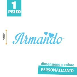 NOME IN FELTRO PERSONALIZZATO - ARMANDO