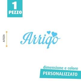 NOME IN FELTRO PERSONALIZZATO - ARRIGO
