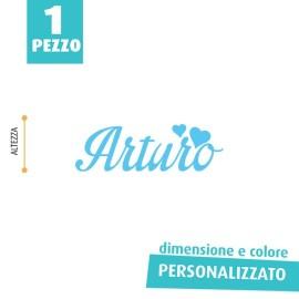 NOME IN FELTRO PERSONALIZZATO - ARTURO
