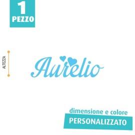 NOME IN FELTRO PERSONALIZZATO - AURELIO