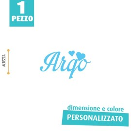NOME IN FELTRO PERSONALIZZATO - ARGO