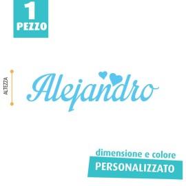 NOME IN FELTRO PERSONALIZZATO - ALEJANDRO