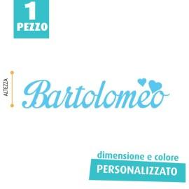 NOME IN FELTRO PERSONALIZZATO - BARTOLOMEO