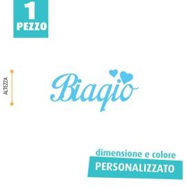 NOME IN FELTRO PERSONALIZZATO - BIAGIO