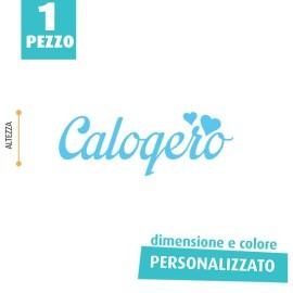 NOME IN FELTRO PERSONALIZZATO - CALOGERO
