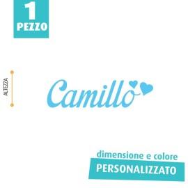 NOME IN FELTRO PERSONALIZZATO - CAMILLO