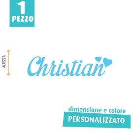 NOME IN FELTRO PERSONALIZZATO - CHRISTIAN