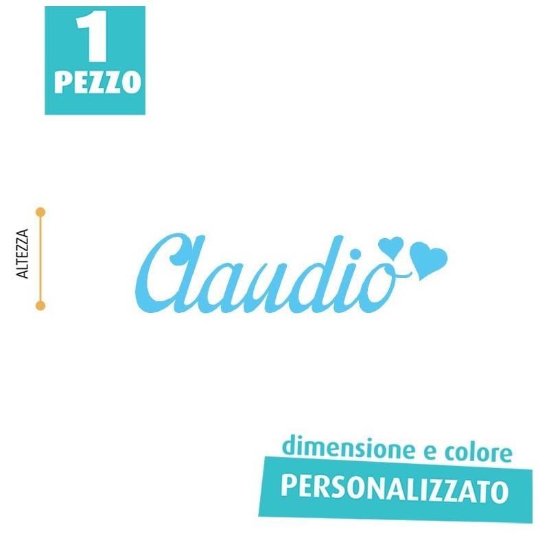 NOME IN FELTRO PERSONALIZZATO - CLAUDIO