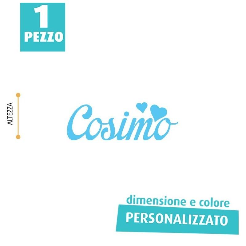 NOME IN FELTRO PERSONALIZZATO - COSIMO