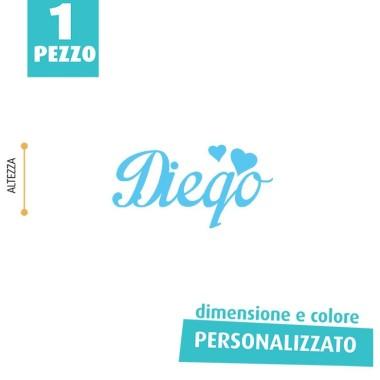 NOME IN FELTRO PERSONALIZZATO - DIEGO