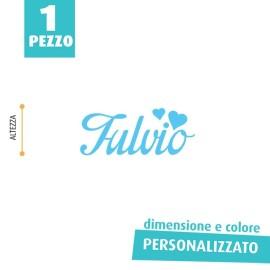 NOME IN FELTRO PERSONALIZZATO - FULVIO