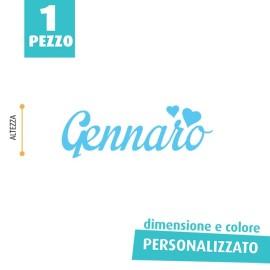 NOME IN FELTRO PERSONALIZZATO - GENNARO