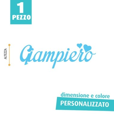 NOME IN FELTRO PERSONALIZZATO - GIAMPIERO