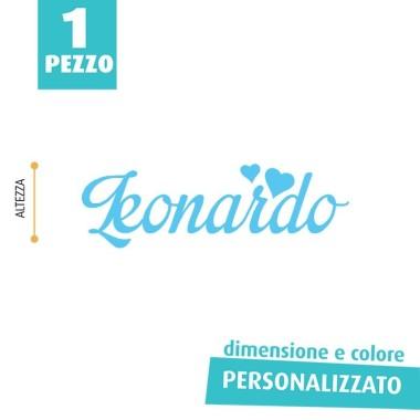 NOME IN FELTRO PERSONALIZZATO - LEONARDO