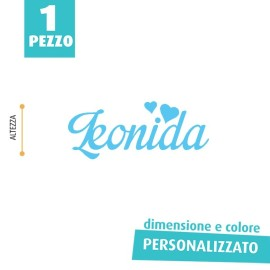 NOME IN FELTRO PERSONALIZZATO - LEONIDA