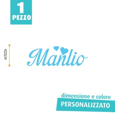 NOME IN FELTRO PERSONALIZZATO - MANLIO