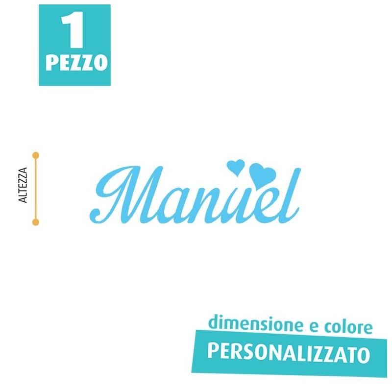 NOME IN FELTRO PERSONALIZZATO - MANUEL