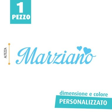 NOME IN FELTRO PERSONALIZZATO - MARZIANO