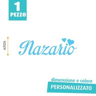 NOME IN FELTRO PERSONALIZZATO - NAZARIO
