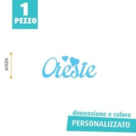 NOME IN FELTRO PERSONALIZZATO - ORESTE