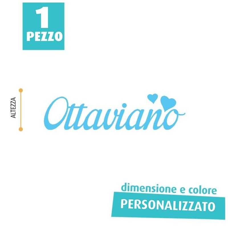 NOME IN FELTRO PERSONALIZZATO - OTTAVIANO