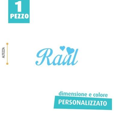 NOME IN FELTRO PERSONALIZZATO - RAUL