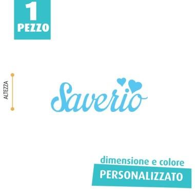 NOME IN FELTRO PERSONALIZZATO - SAVERIO