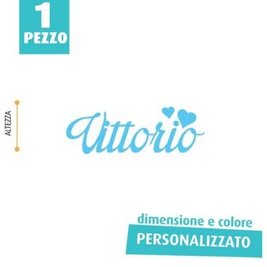 NOME IN FELTRO PERSONALIZZATO - VITTORIO