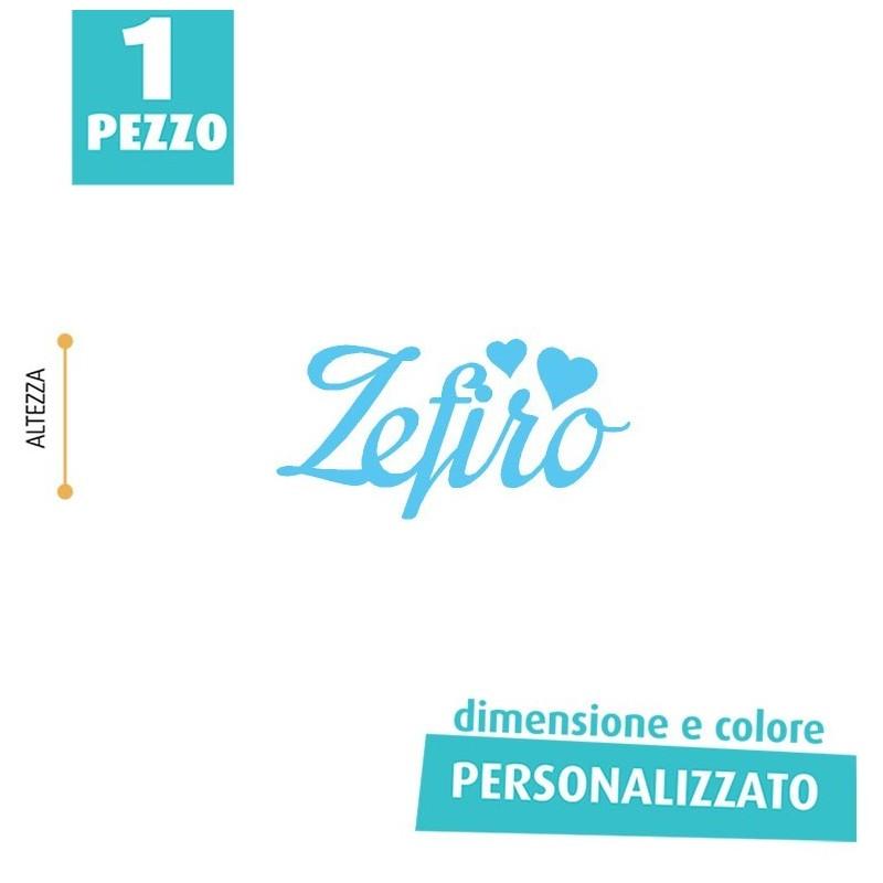 NOME IN FELTRO PERSONALIZZATO - ZEFIRO