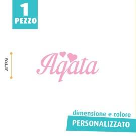 NOME IN FELTRO PERSONALIZZATO - AGATA