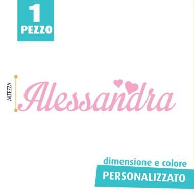 NOME IN FELTRO PERSONALIZZATO - ALESSANDRA