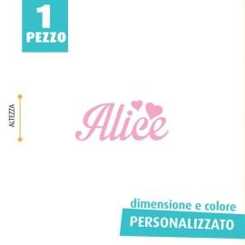 NOME IN FELTRO PERSONALIZZATO - ALICE