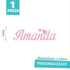 NOME IN FELTRO PERSONALIZZATO - AMANDA