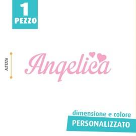 NOME IN FELTRO PERSONALIZZATO - ANGELICA