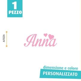 NOME IN FELTRO PERSONALIZZATO - ANNA