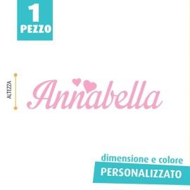 NOME IN FELTRO PERSONALIZZATO - ANNABELLA