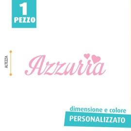 NOME IN FELTRO PERSONALIZZATO - AZZURRA
